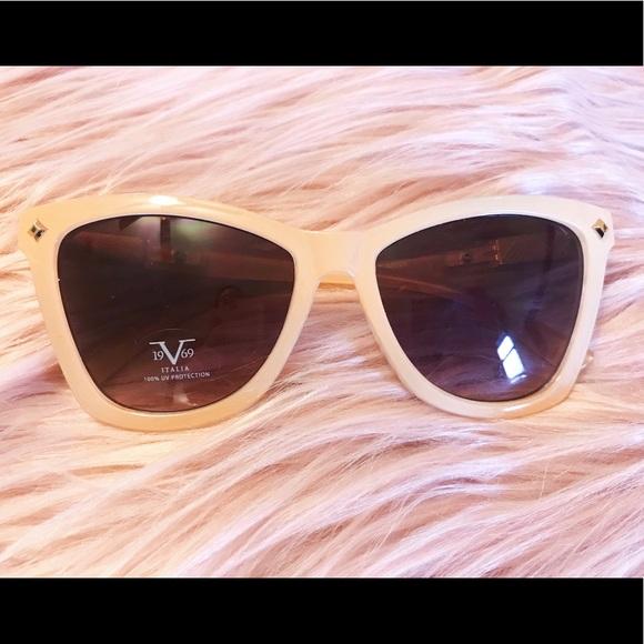 44cc321f74fb Versace Italia 1969 Blush Pink Cat Eye Sunglasses